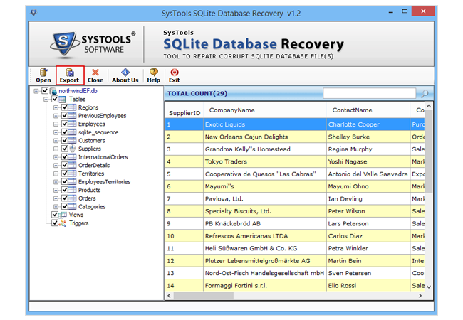 Open and Read SQLite Database Files