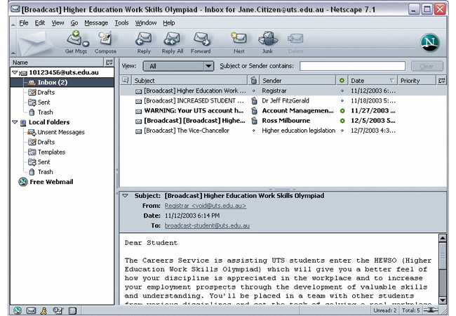 Netscape Email Viewer